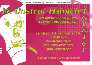 Plakat 14. U-H-Tanzturnier
